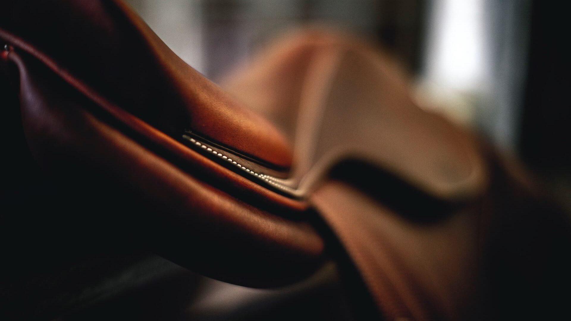 Närbild på Butet sadel, finns i både nya och begagnade