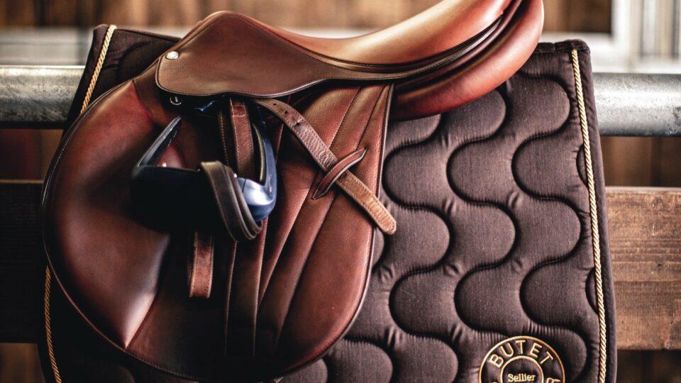 helhetsbild på hur en butet sadel ser ut ihop med schabrak från butet